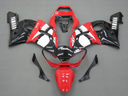 Fairings Yamaha YZF-R6 Red Black R6 Racing (1998-2002)