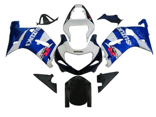 Fairings Suzuki GSXR 750 Blue & White Suzuki GSXR Racing  (2001-2003)