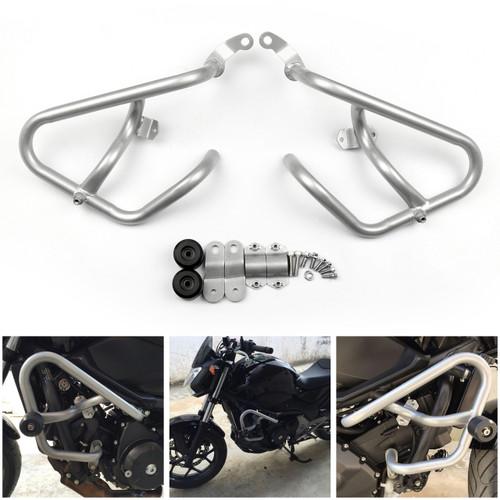 Engine Guard Crash Bar Protection Honda NC750X NC750S NC700X NC700S (12-16), Silver