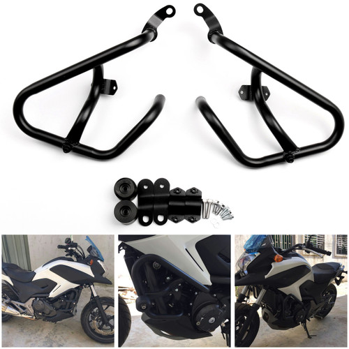 Engine Guard Crash Bar Protection Honda NC750X NC750S NC700X NC700S (12-16), Black
