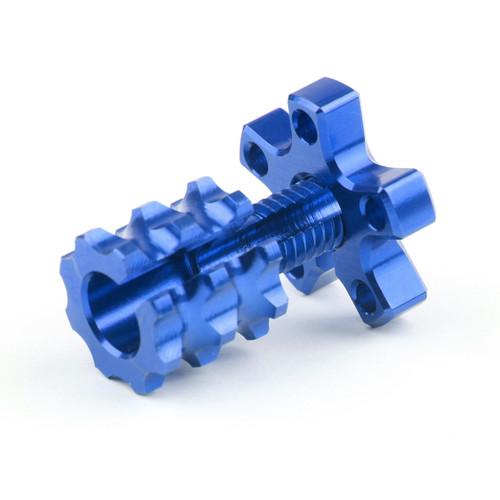 Universal 8mm Anodized Billet Aluminum Clutch Cable Adjuster Set, Blue
