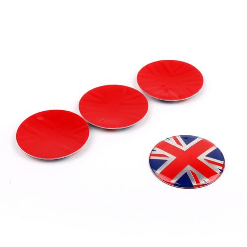 4x Wheel Center Hub Cap Emblem Badge decal Union Jack UK Flag Mini Cooper