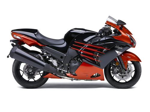 Fairings Plastics Kawasaki ZX14R Ninja Orange Black Racing (2012-2016)