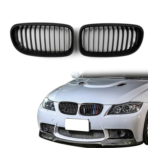 Kidney Grille BMW E90 E91 LCI 3 Series Sedan Wagon 4 Door (2008-2012) Matte Black