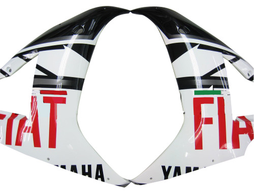 Fairings Yamaha YZF-R1 Black White No.46 FIAT Racing (2004-2006)