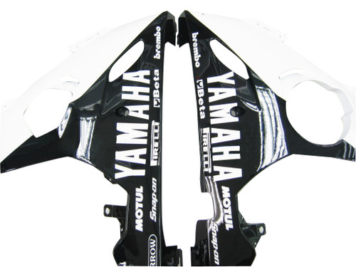 Fairings Yamaha YZF-R6 Black & White Tribal R6 Racing (2003-2005)