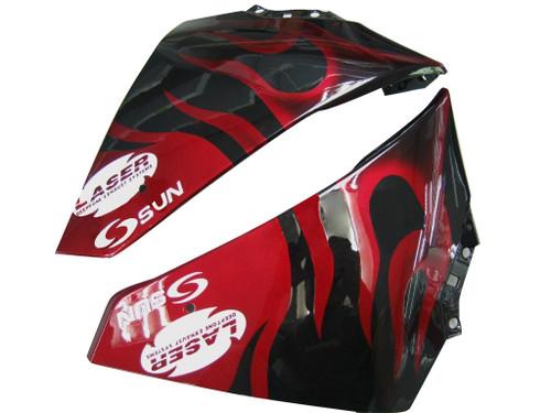 Fairings Yamaha YZF-R1 Black & Red Flame Racing (2009-2012)