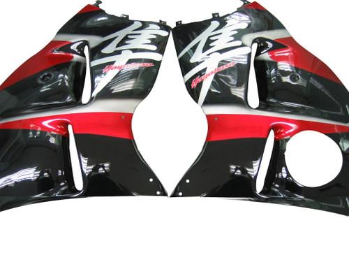 Fairings Suzuki GSX1300 Hayabusa Black & Red Hayabusa  Racing  (1999-2007)