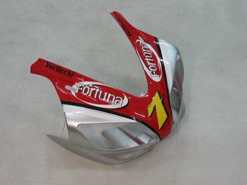 Fairings Yamaha YZF-R1 Red Silver No.7 Fortuna Racing (1998-1999)