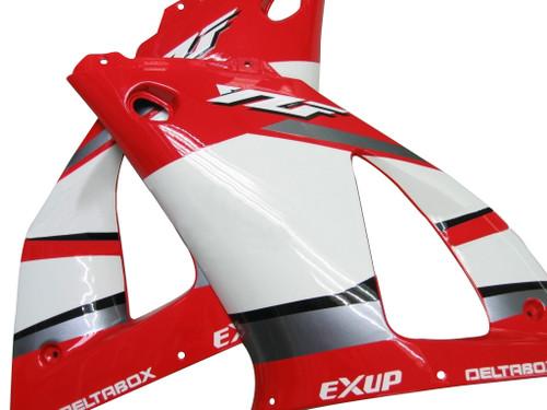 Fairings Yamaha YZF-R1 Red White Black  R1 Racing (2000-2001)