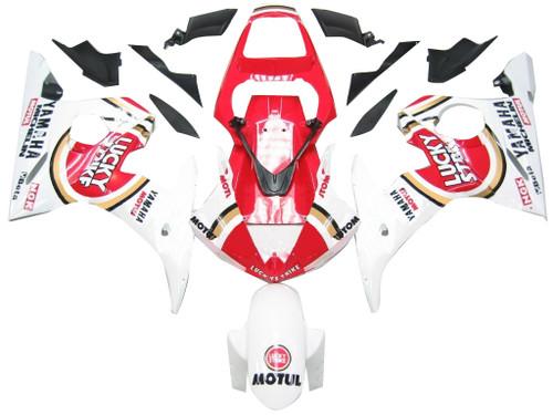 Fairings Yamaha YZF-R6 White & Red Lucky Strike R6 Racing (2003-2005)