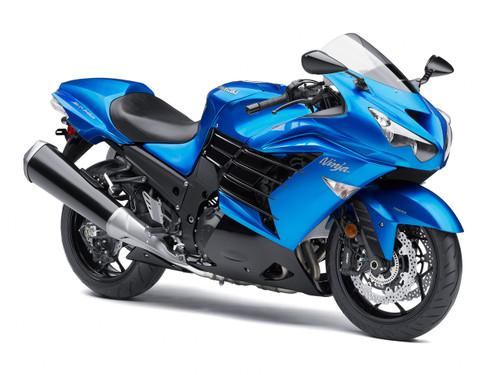 Fairings Plastics Kawasaki ZX14R Ninja Blue Racing (2012-2016)