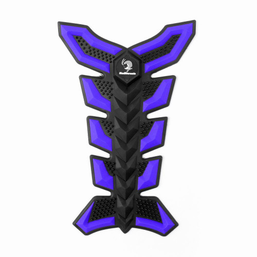 3D Rubber Tank Pad Protector for Motorcycles, Blue