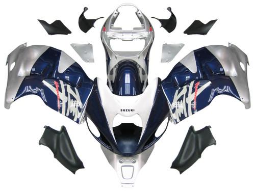 Fairings Suzuki GSX1300 Hayabusa Blue and Silver Hayabusa Racing  (1999-2007)