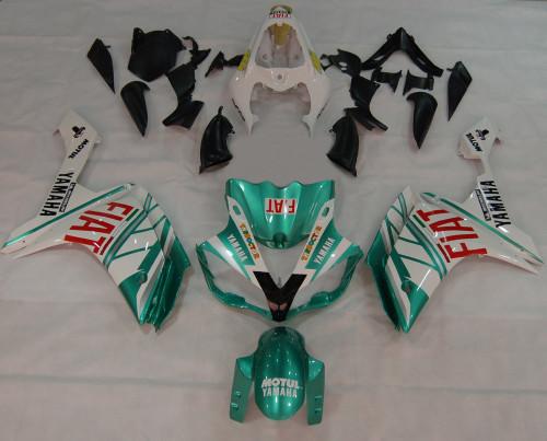 Fairings Yamaha YZF-R1 Green Emerald White FIAT Racing (2007-2008)