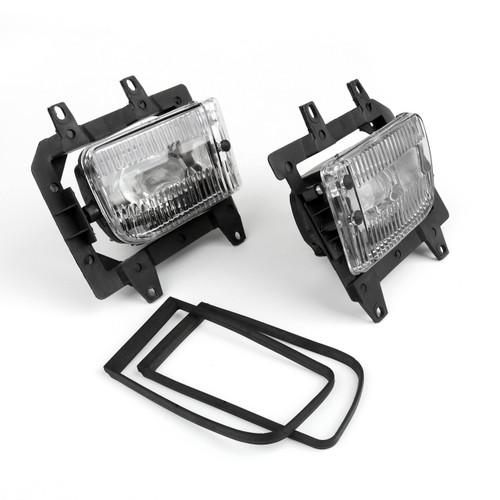 Clear Fog Lights Plastic Lens Kit BMW E30 3-Series Sedan (85-93)