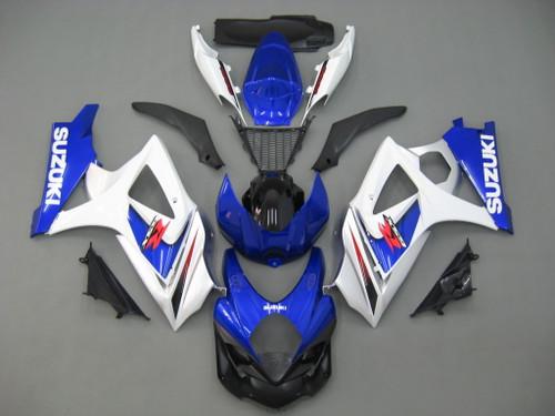 Fairings Suzuki GSXR 1000 Blue & White GSXR  Racing  (2007-2008)