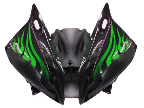 Fairings Yamaha YZF-R6 Black & Green Flame R6 Racing (2006-2007)