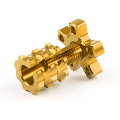 Universal 8mm Anodized Billet Aluminum Clutch Cable Adjuster Set, Gold