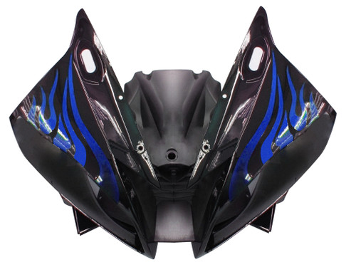 Fairings Yamaha YZF-R6 Black & Blue Flame R6 Racing (2006-2007)