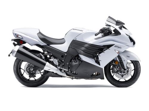 Fairings Plastics Kawasaki ZX14R Ninja White Racing (2012-2016)