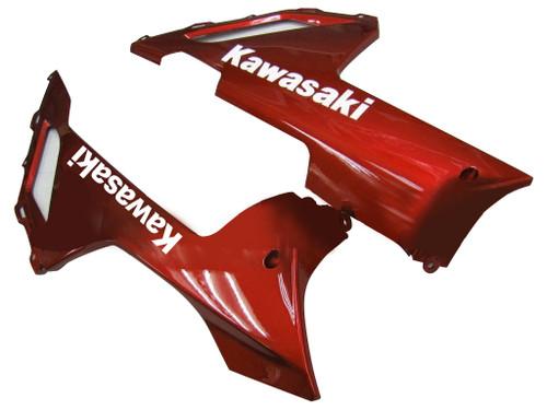 Fairings Kawasaki ZX6R ZX636 Black & Red Flame Ninja ZX6R  Racing  (2007-2008)