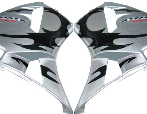 Fairings Honda CBR 600 RR Silver & Black Tribal Tatoo Racing (2003-2004)