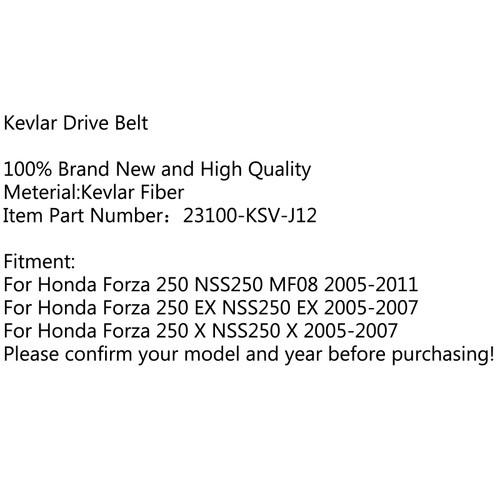 Premium Drive Belt For Honda Forza 250 NSS250 MF08 2005-2011 EX NSS250