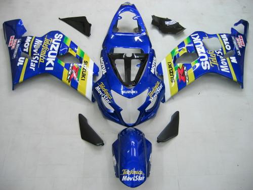 Fairings Suzuki GSXR 600 750 Blue Movistar GSXR Racing  (2004-2005)
