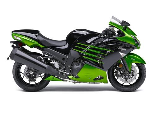 Fairings Plastics Kawasaki ZX14R Ninja Green Black Racing (2012-2016)