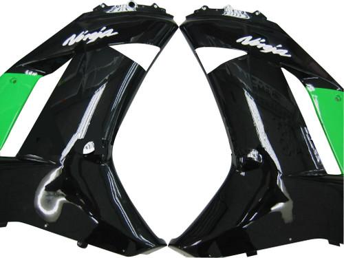 Fairings Kawasaki ZX6R ZX636 Green Black Ninja ZX6R  Racing  (2007-2008)