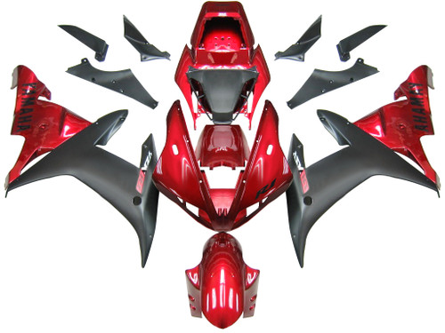 Fairings Yamaha YZF-R1 Red Black R1 Racing (2002-2003)