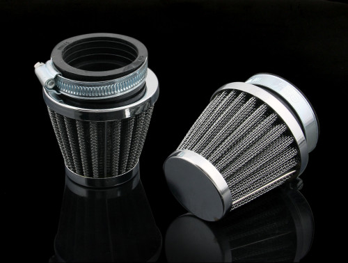 Air Filter 42mm 2PCS Honda Kawasaki Suzuki Yamaha LIFAN SHINERAY SYM
