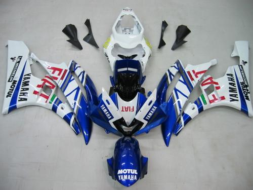 Fairings Yamaha YZF-R6 White Blue No.46 FIAT R6 Racing (2006-2007)