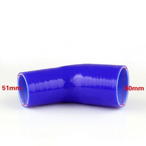 Elbow 45 Degree 51mm 60mm Silicone Pipe Hose Coupler Intercooler Turbo Intake