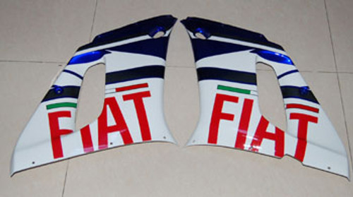 Fairings Yamaha YZF-R6 White & Blue No.46 FIAT R6 Racing (1998-2002)