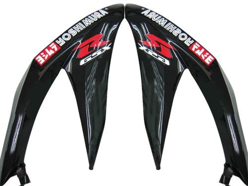 Fairings Suzuki GSXR 600 750 Black White GSXR Racing  (2008-2009)