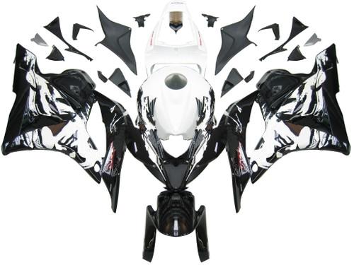 Fairings Honda CBR 600 RR Black & White Tribal Racing (2009-2012)