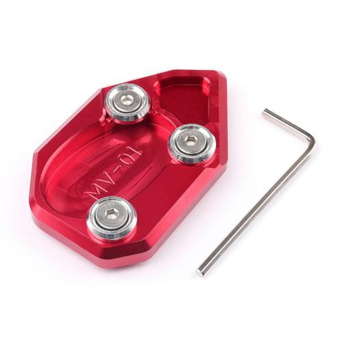 Kickstand Side Stand Enlarger Plate MV AGUSTA Brutale 1078 (08-12) F4 (04-15) Brutale 990R (10-12) Red
