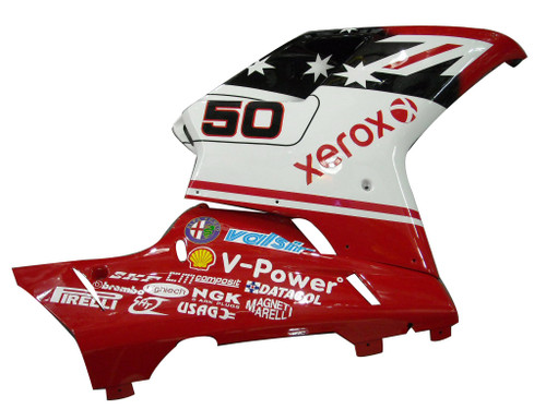 Fairings Ducati 1098 1198 848 Red & White Xerox No.50 Racing (2007-2011)