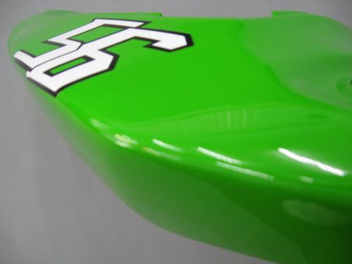 Fairings Kawasaki ZX6R 636 Green Black No.56 ELF Racing  (2003-2004)