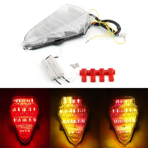LED Taillight integrated Turn Signals Yamaha YZF R6 (2008-2014) Clear