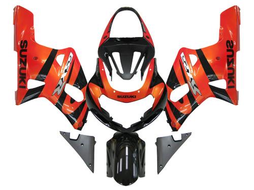 Fairings Suzuki GSXR 750 Orange Metallic & Black GSXR Racing (2001-2003)