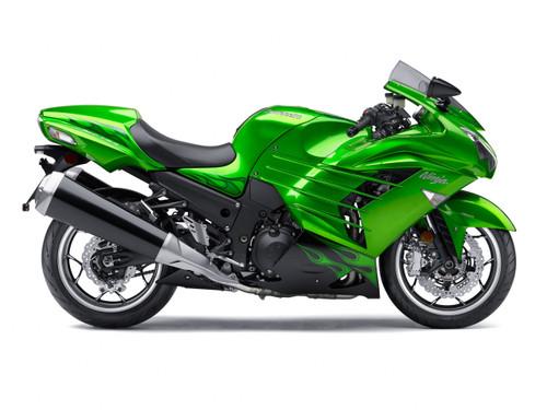 Fairings Plastics Kawasaki ZX14R Ninja Green Flame Racing (2012-2016)