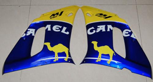Fairings Yamaha YZF-R6 Yellow Blue Camel R6 Racing (1998-2002)