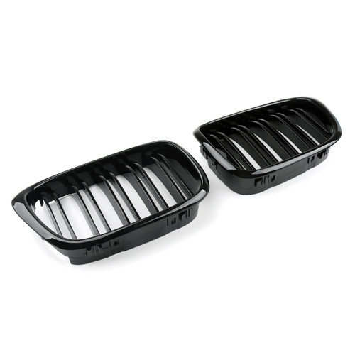 Kidney Grille Double Rib BMW E39 5 Series (2001-2004) Gloss Black