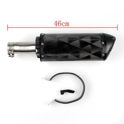 Carbon Fiber Exhaust Muffler Silencer Yamaha YZF R6 (2006-2014) Black