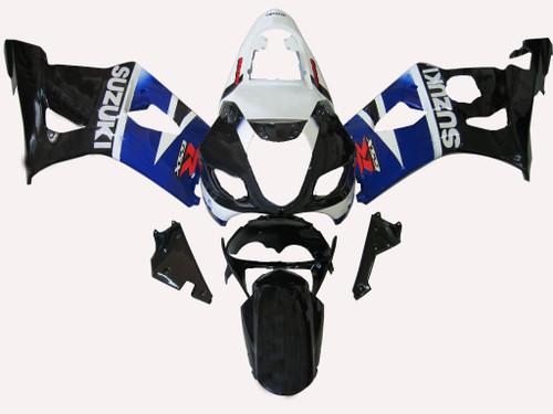Fairings Suzuki GSXR 1000 Black Blue White GSXR Racing  (2003-2004)