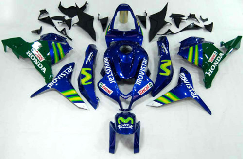 Fairings Honda CBR 600 RR Blue & Green Movistar Racing (2009-2012)