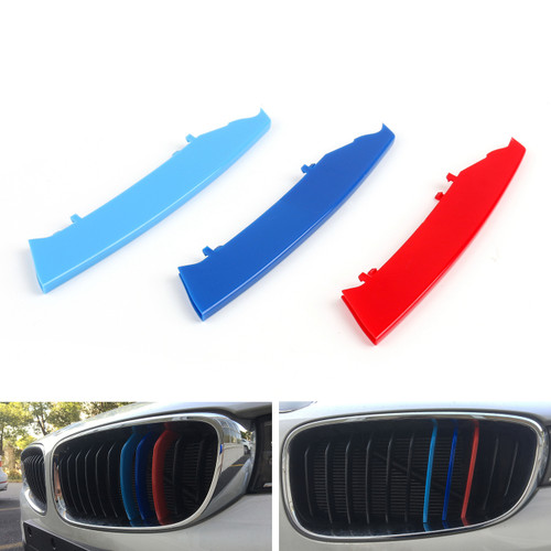 M Power Kidney Grille Grill Buckle Color Strip Decorate Covers BMW 3 Series E90 2004-2008